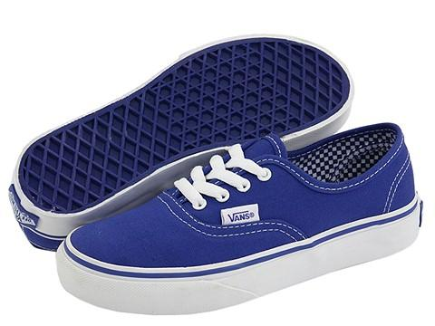 the best attitude ff69f a62b3 Shop Vans Kids Authentic (Toddler Youth) (Minicheck Lining) Royal Blue True  White Athletic - Free Shipping On Orders Over  45 - Overstock - 4661682