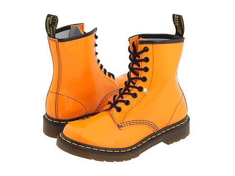 Dr. Martens 1460 W Orange Patent Boots
