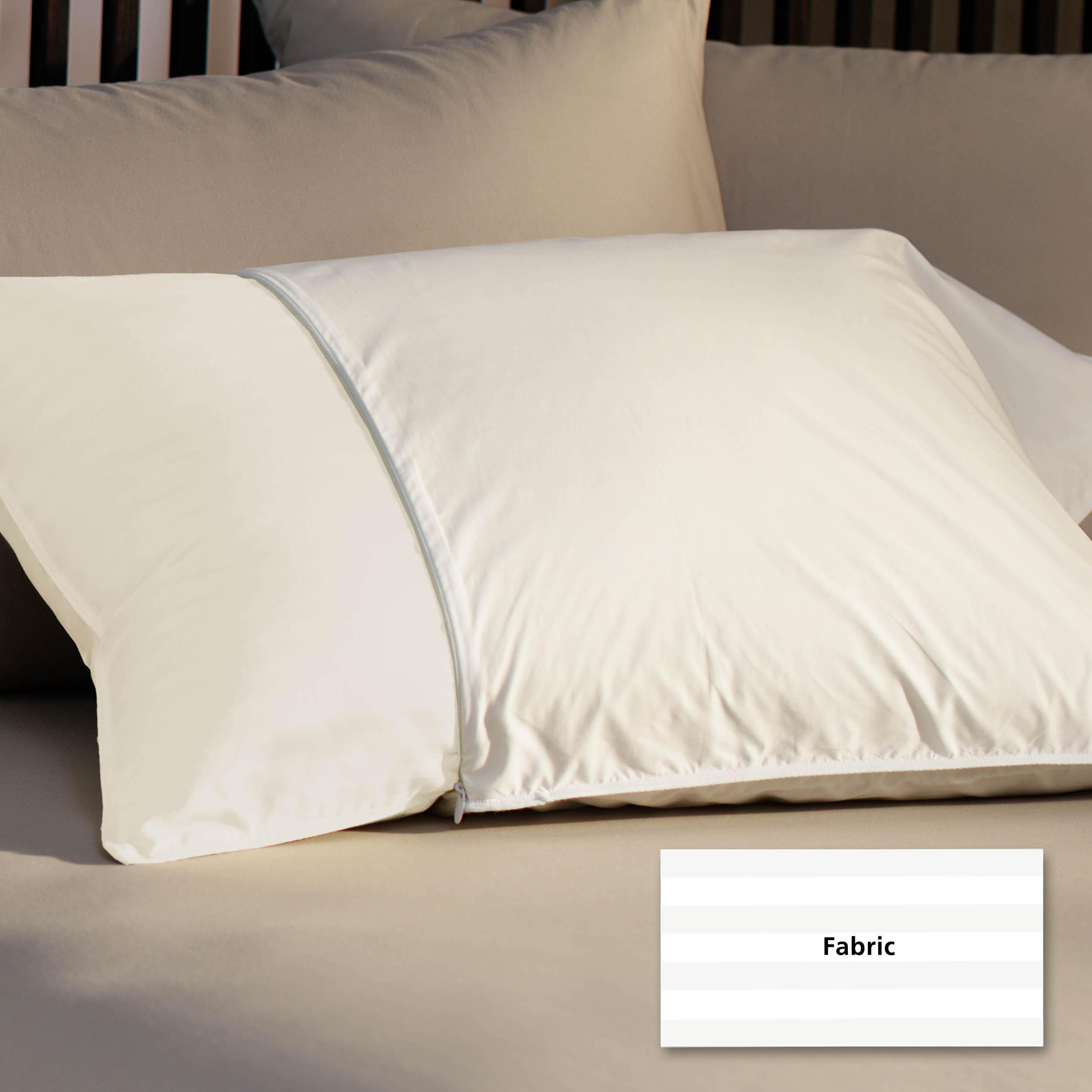 Silk/Cotton 500 Thread Count Pillow Protectors (Set of 2)