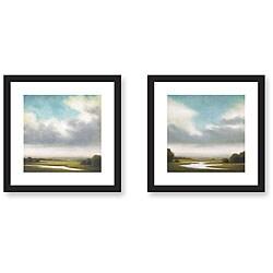 Gallery Direct St. John 'Light Precipitation' 2-piece Framed Art Print Set