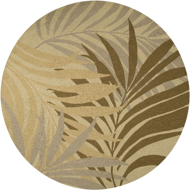 Tropic Collection Indoor/Outdoor Floral Rug (8' Round)