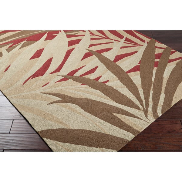 Hand-hooked Tropic Indoor/Outdoor Floral Rug (5' x 8')