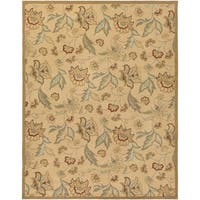 Hand-hooked Tropic Collection Indoor/Outdoor Floral Area Rug (8' x 10')
