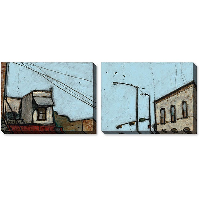 Gallery Direct Ganucheau 'Buildings' Gallery Wrapped Art Set