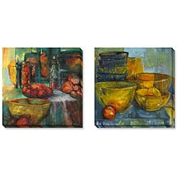 Gallery Direct Angeli 'Red and Green Fruit' Wrapped Art Set