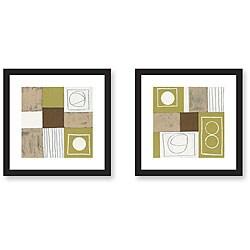 Gallery Direct Salvador Luca 'Validity' 2-piece Framed Art Print Set