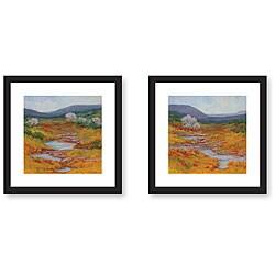 Gallery Direct Kim Coulter 'Mountain Stream' Framed Art Print Set