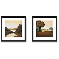 Gallery Direct St. John 'Riverside and Waterways' Framed Art Set