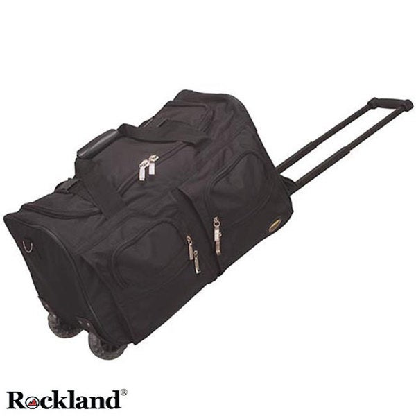 79ffa1915f Shop Rockland 22-inch Black Carry On Rolling Upright Duffel Bag - Free  Shipping On Orders Over  45 - Overstock - 3300216