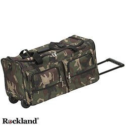 Rockland Deluxe Camouflage 22-inch Rolling Upright Duffel Bag