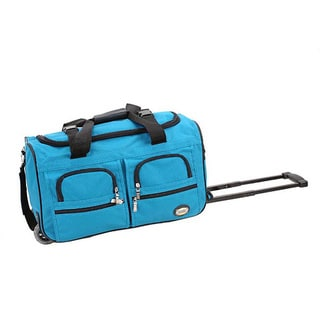 Rockland Turquoise 22-inch Carry On Rolling Upright Duffel Bag