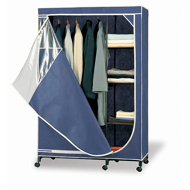 Organize It All Deluxe Wardrobe Storage Armoire (Blue Sto...
