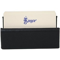 Royce Leather Professional Black Business Card Holder Display - Thumbnail 0