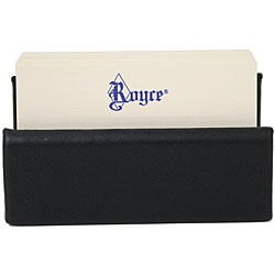 Royce Leather Professional Black Business Card Holder Display