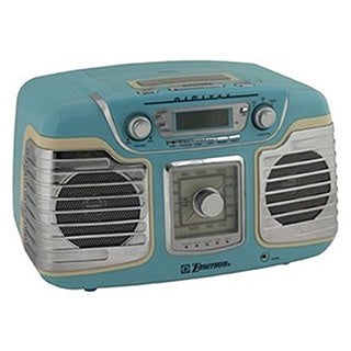 Shop Emerson Ret66tqc Retro Style Radio Cd Player Free