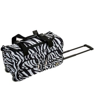 Rockland Deluxe Zebra 22-inch Carry On Rolling Upright Duffel Bag