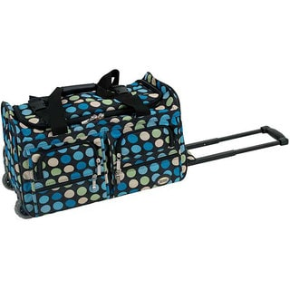 Rockland Multi-blue Dot 22-inch Carry On Rolling Upright Duffel Bag