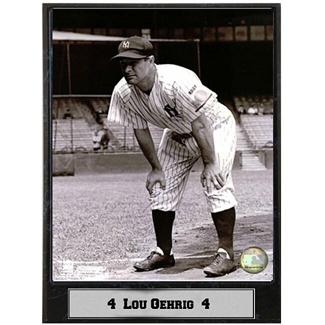 Lou Gehrig 9x12 Baseball Photo Plaque