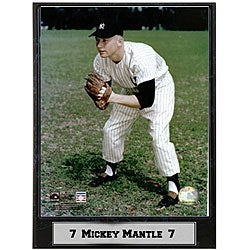 Mickey Mantle 9x12 Baseball Photo Plaque