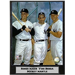 Marris, Berra, Mantle 9x12 Baseball Photo Plaque - Thumbnail 0