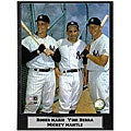 Marris, Berra, Mantle 9x12 Baseball Photo Plaque