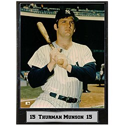Thurman Munson 9x12 Baseball Photo Plaque