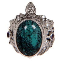 Handmade Sterling Silver 'Blue Turtle' Turquoise Ring (Indonesia)