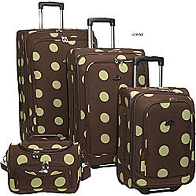 American Flyer Grande Dots 4 Piece Luggage Set
