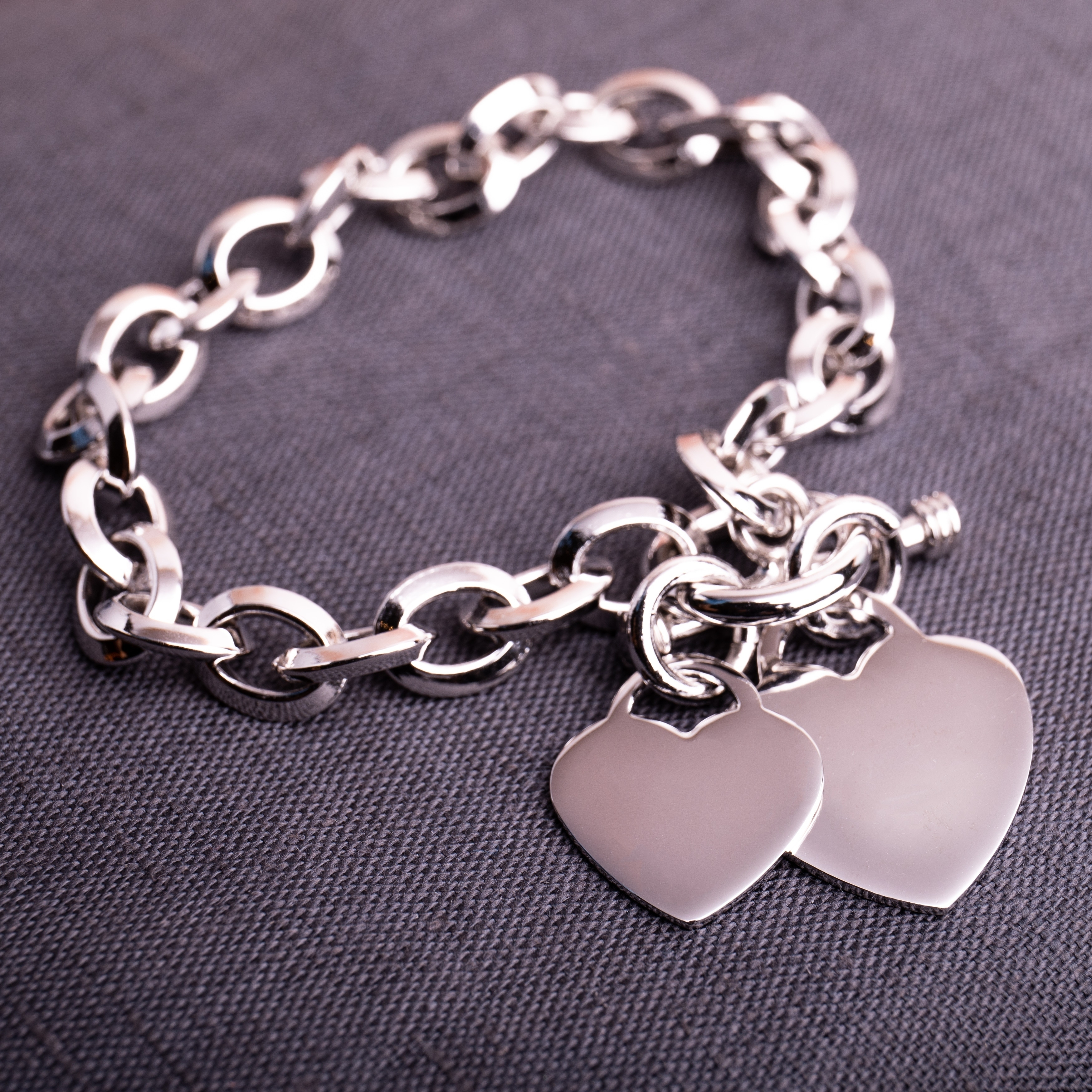 Miadora Sterling Silver Double Heart