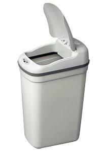 White Plastic Motion Sensor 7.1-gallon Trash Can - Thumbnail 1