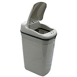 Grey Plastic Motion Sensor 8.7-gallon Trash Can
