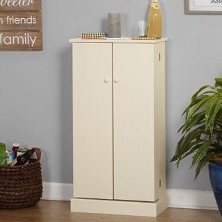 Simple Living  Pine Utility Kitchen Pantry (Antique White)