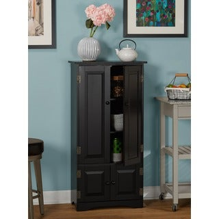 Simple Living Tall Cabinet (Option: Black)