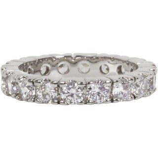 Simon Frank Designs  Bright White Hand Set Stackable CZ Eternity Band