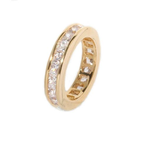 Classic Princess Cut Eternity/Stackable CZ Band Ring by Simon Frank Designs
