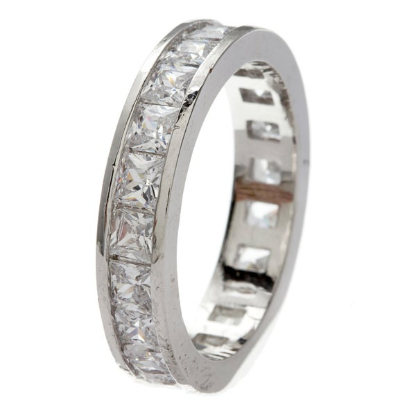 Simon Frank Princess-cut Channel Set Stackable Cubic Zirconia Eternity Band