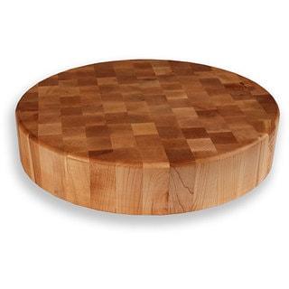 Maple End Grain 18-inch Round Chopping Block