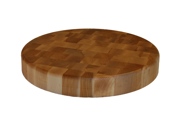 Maple End Grain 15-inch Round Chopping Block