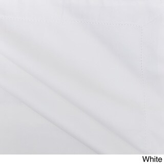 Hemstitch 400 Thread Count Solid Cotton 3-Piece Duvet Cover Set