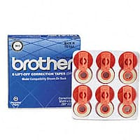 Brother Lift-off Correction Tape (Pack of 6)