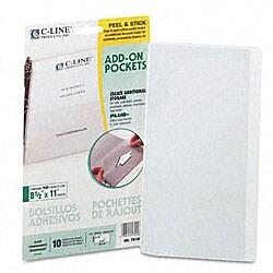 Peel & Stick Add-On Polypropylene Filing Pockets (