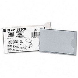 Gray Colored Magnetic Label Holders (Pack of 10)