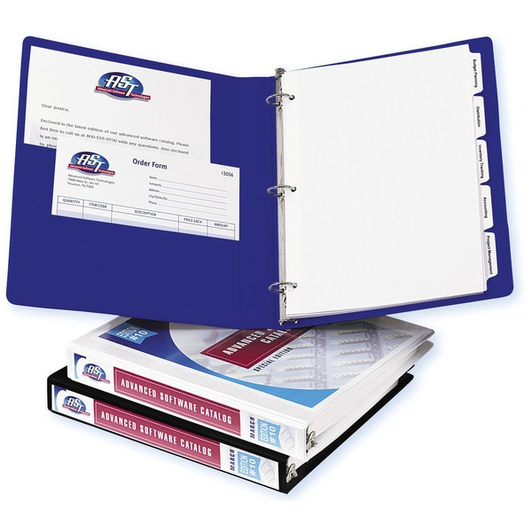 Avery Durable 1/2-Inch White Vinyl View Binder