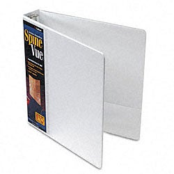 SpineVue 1.5-Inch Locking Ring White View Binder