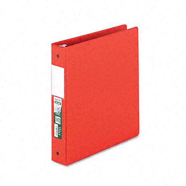 Samsill Red Antimicrobial 1.5-Inch Round-Ring Binder