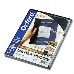 Oxford Laserview Single-Pocket Business Portfolios (10-Pack)