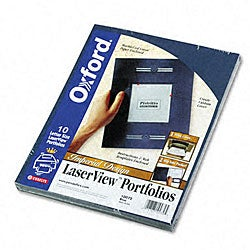 Oxford Laserview Single-pocket Portfolios (10 pack)