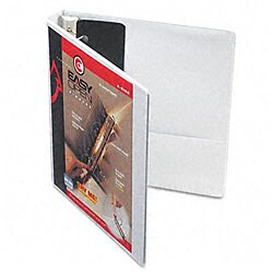 Recycled ClearVue 1-inch EasyOpen D-ring Presentation Binder