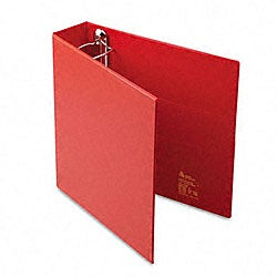 Avery 2-Inch Heavy-Duty Red Vinyl EZD Ring Reference Binder