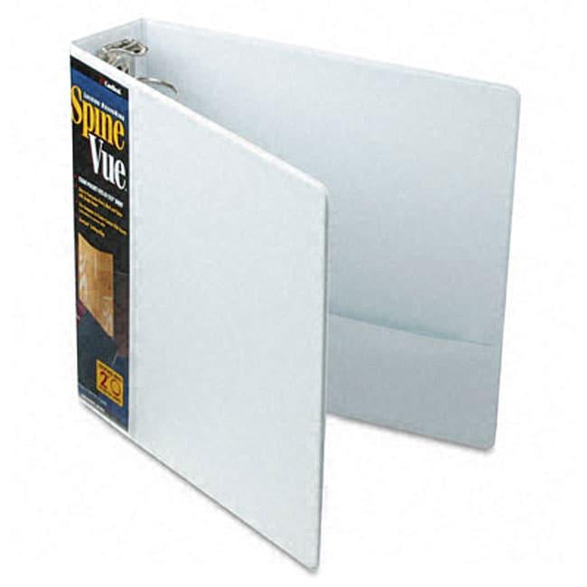 SpineVue 2-Inch Locking Ring White View Binder